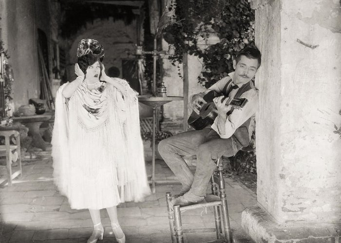 -music- Greeting Card featuring the photograph Silent Film Still: Music by Granger