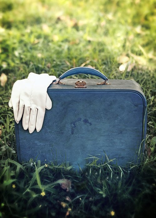 Leather Bag Greeting Card featuring the photograph Suitcase by Joana Kruse