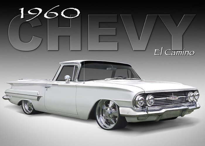 1960 Chevy El Camino Greeting Card featuring the photograph 60 Chevy El Camino by Mike McGlothlen