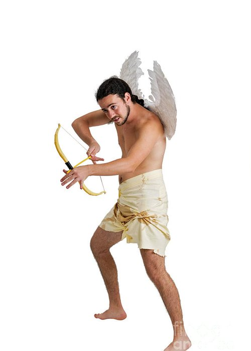 Enjoyment Greeting Card featuring the photograph Cupid The God Of Desire by Ilan Rosen