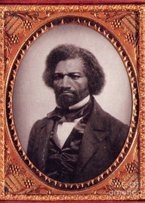 Man Greeting Card featuring the photograph Frederick Douglass African-american by Photo Researchers