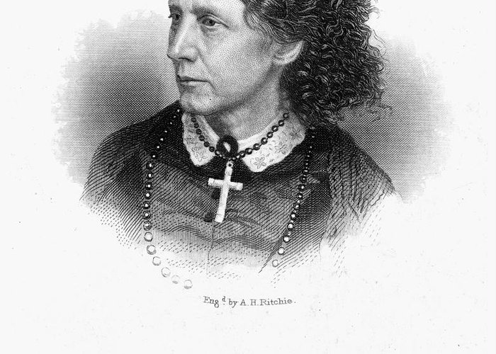 1868 Greeting Card featuring the photograph Harriet Beecher Stowe by Granger