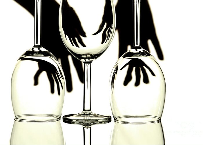 Glass Greeting Card featuring the photograph Wine Glasses by Blink Images