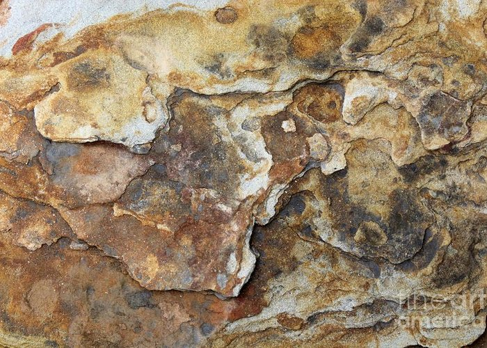 Nature Greeting Card featuring the photograph Natures Rock Art by Jack R Brock