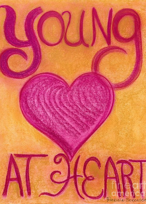 Young Greeting Card featuring the pastel Artwithheart.com by Patricia 'Amber' Sorenson