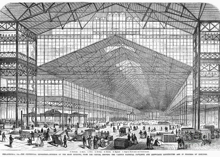 1876 Greeting Card featuring the photograph Centennial Fair, 1876 by Granger