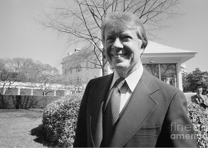 1977 Greeting Card featuring the photograph Jimmy Carter (1924- ) by Granger