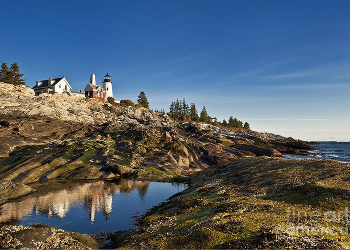 Bristol Greeting Card featuring the photograph Pemaquid Point Lighthouse by John Greim