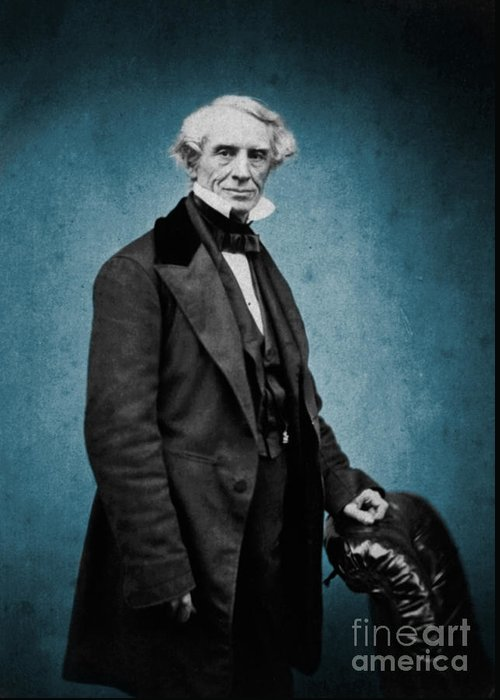 Science Greeting Card featuring the photograph Samuel Morse, American Inventor by Science Source