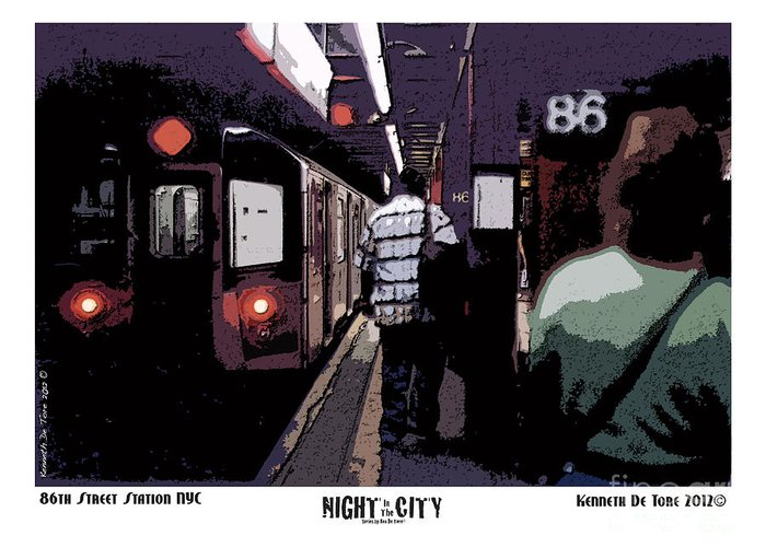 Subway Greeting Card featuring the photograph 86th Street by Kenneth De Tore