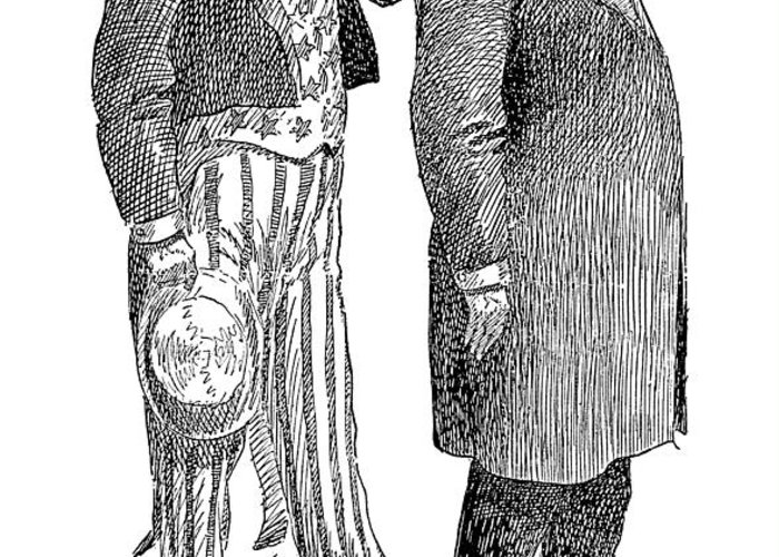 1904 Greeting Card featuring the photograph Presidential Campaign, 1904 by Granger