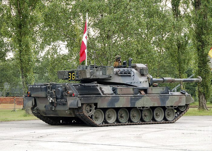 Adults Only Greeting Card featuring the photograph The Leopard 1a5 Of The Belgian Army by Luc De Jaeger