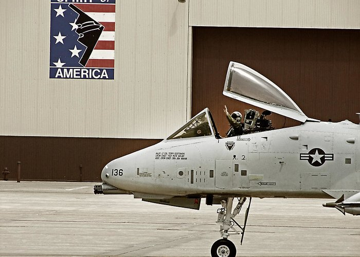 A10 Greeting Card featuring the photograph A-10 Thunderbolt by Lamyl Hammoudi