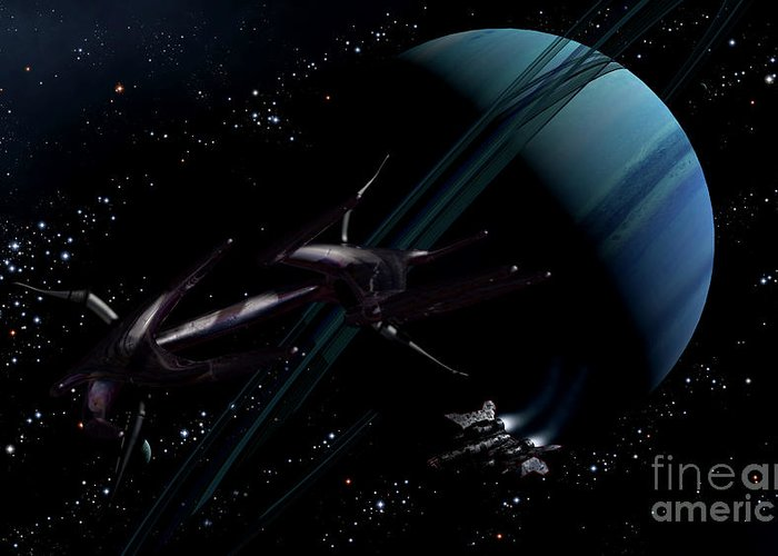 Artwork Greeting Card featuring the digital art A Chartered Private Corvette by Brian Christensen