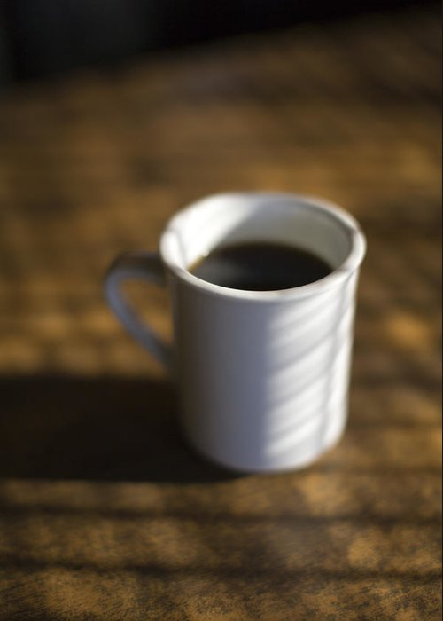 Indoors Greeting Card featuring the photograph A Cup Of Coffee At A Diner by John Burcham