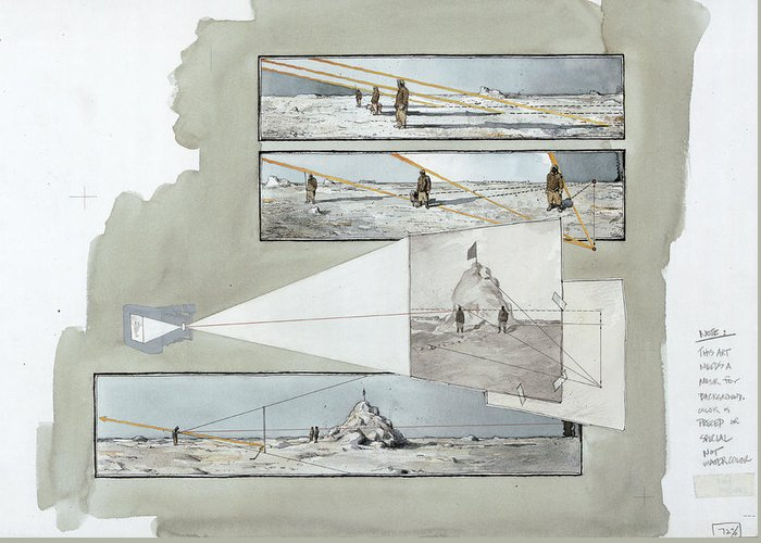 North Pole Greeting Card featuring the photograph A Diagram Examines Photographs by Richard Schlecht