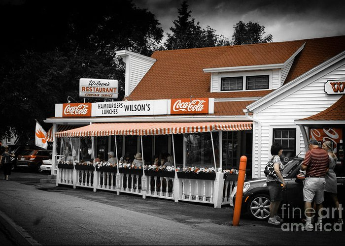 Wilsons Greeting Card featuring the photograph A Door County Institution Since 1906 by Ever-Curious Photography