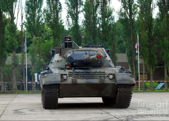 Adults Only Greeting Card featuring the photograph A Leopard 1a5 Mbt Of The Belgian Army by Luc De Jaeger