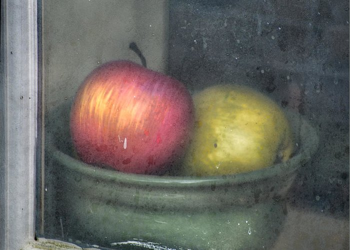 Apple Greeting Card featuring the photograph A Pair by Brenda Bryant