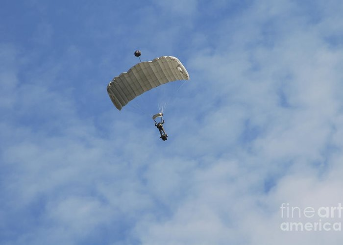 Adults Only Greeting Card featuring the photograph A Paratrooper Of The Belgian Army by Luc De Jaeger