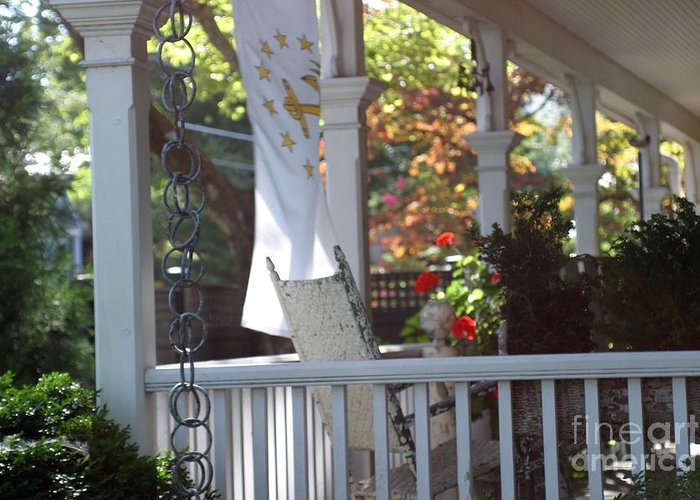 Porch Greeting Card featuring the photograph A Porch To Reflect by Living Color Photography Lorraine Lynch