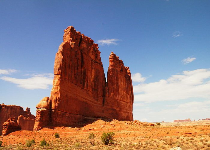 Hills Greeting Card featuring the photograph A Rock At Arches by Jeff Swan