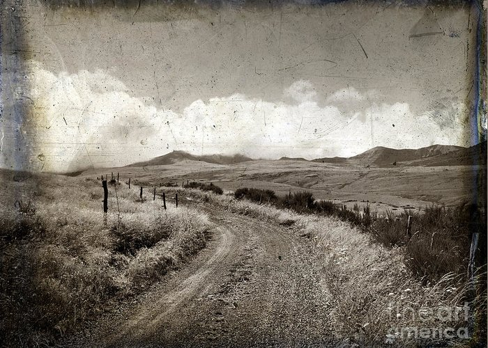 Eternity Greeting Card featuring the photograph A Rural Path In Auvergne. France by Bernard Jaubert
