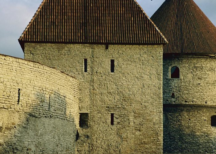 Walls Greeting Card featuring the photograph A Section Of Wall Around Tallinn, Built by Sisse Brimberg