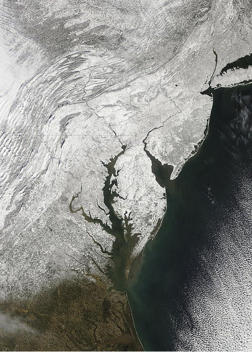 Blizzard Greeting Card featuring the photograph A Severe Winter Storm Along The United by Stocktrek Images
