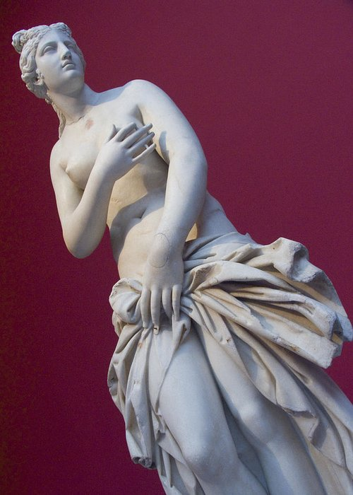 Europe Greeting Card featuring the photograph A Statue Of Aphrodite At The Acropolis by Richard Nowitz