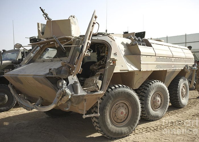 A Tpz Fuchs Armored Personnel Carrier Greeting Card For Sale By