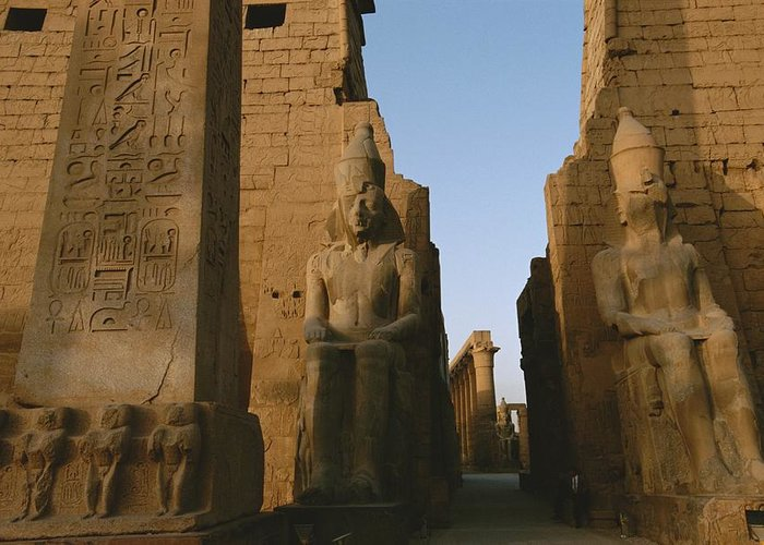 Africa Greeting Card featuring the photograph A View Of Luxor Temple by Kenneth Garrett