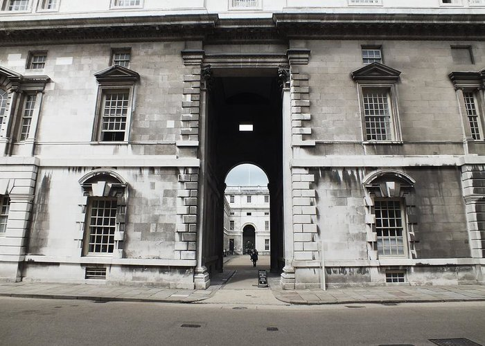 Royal Naval College Greeting Card featuring the photograph A View Of The Royal Naval College by Anna Villarreal Garbis