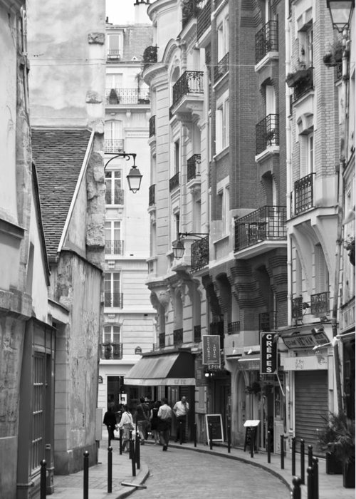 Aged Greeting Card featuring the photograph A Walk About Paris by Georgia Fowler
