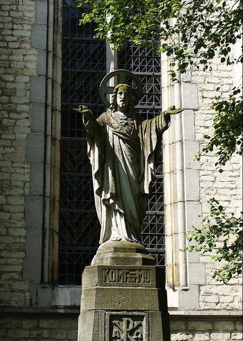 Statue Greeting Card featuring the photograph A Walk Through Kortrijk 2 by Jerrett Dornbusch