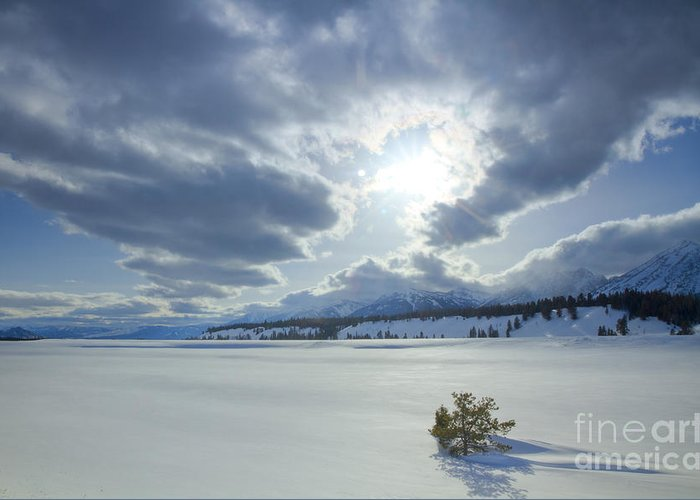 Teton Mountains Greeting Card featuring the photograph A Winter Sky by Idaho Scenic Images Linda Lantzy