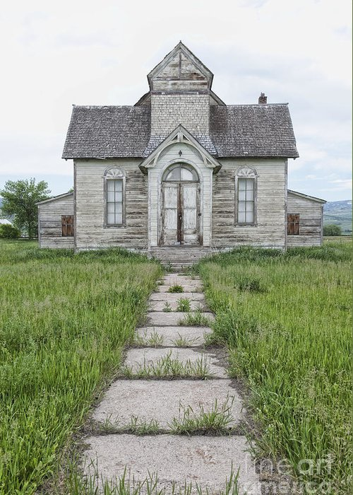 Abandoned Greeting Card featuring the photograph Abandoned Countryside Church by Dave & Les Jacobs