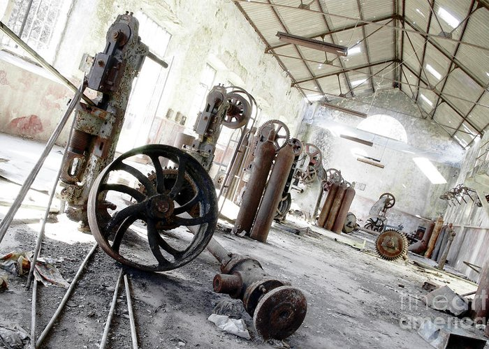 Abandoned Greeting Card featuring the photograph Abandoned Factory by Carlos Caetano