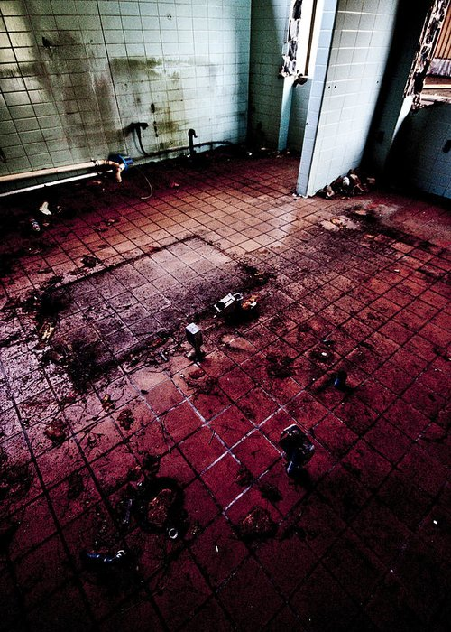 Locker Greeting Card featuring the photograph Abandoned Locker Room by Christopher Kulfan