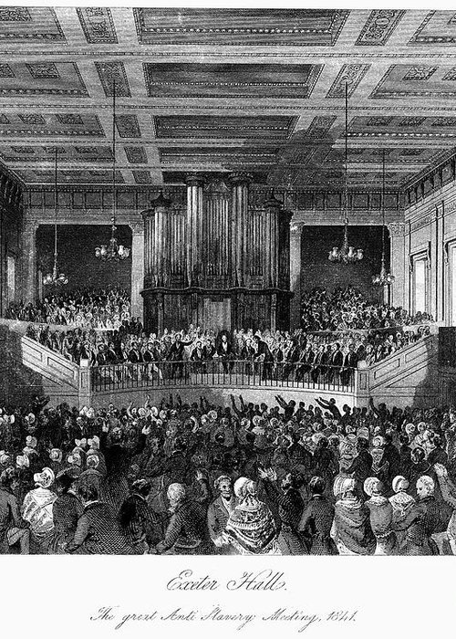 1840 Greeting Card featuring the photograph Abolition Convention, 1840 by Granger
