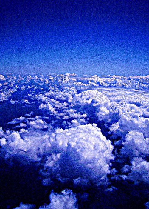 Sky Greeting Card featuring the photograph Above The Clouds Abstract by Brian Lenz