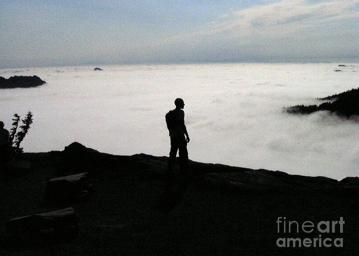 Nature Greeting Card featuring the photograph Above The Clouds by Silvie Kendall