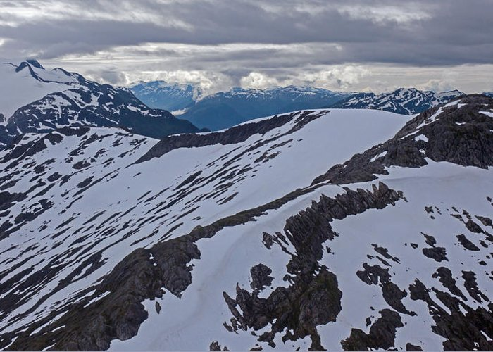 Frederick Sound Greeting Card featuring the photograph Above The Ridge by Mike Reid