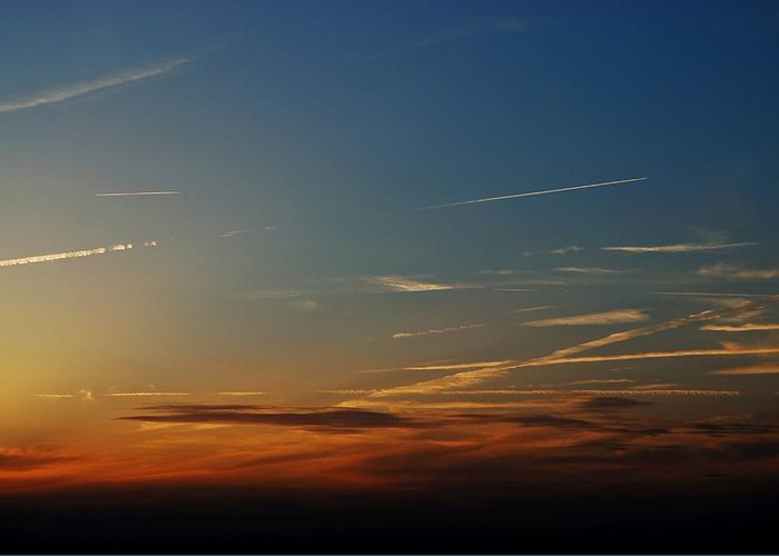 Sky Greeting Card featuring the photograph Above Us Only Sky by Dean Harte
