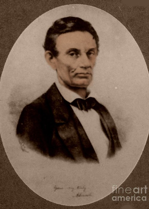 History Greeting Card featuring the photograph Abraham Lincoln, 16th American President by Science Source