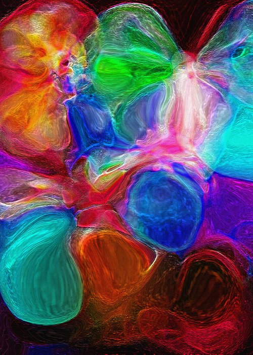 Eggs Greeting Card featuring the photograph Abstract - Amoeba by Steve Ohlsen