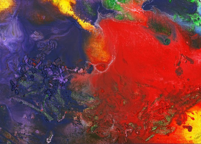 Abstract Greeting Card featuring the photograph Abstract - Crayon - Andromeda by Mike Savad