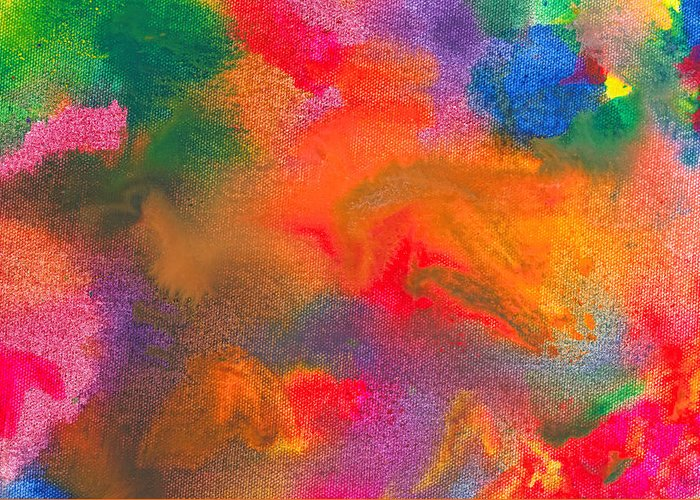Abstract Greeting Card featuring the photograph Abstract - Crayon - Melody by Mike Savad