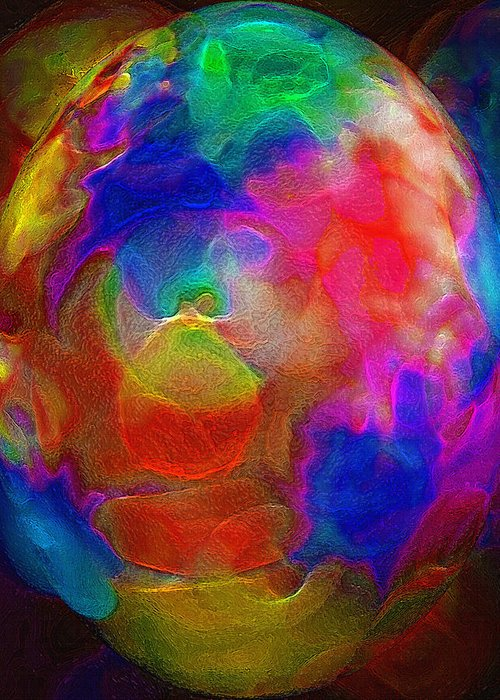 Egg Greeting Card featuring the photograph Abstract - The Egg by Steve Ohlsen