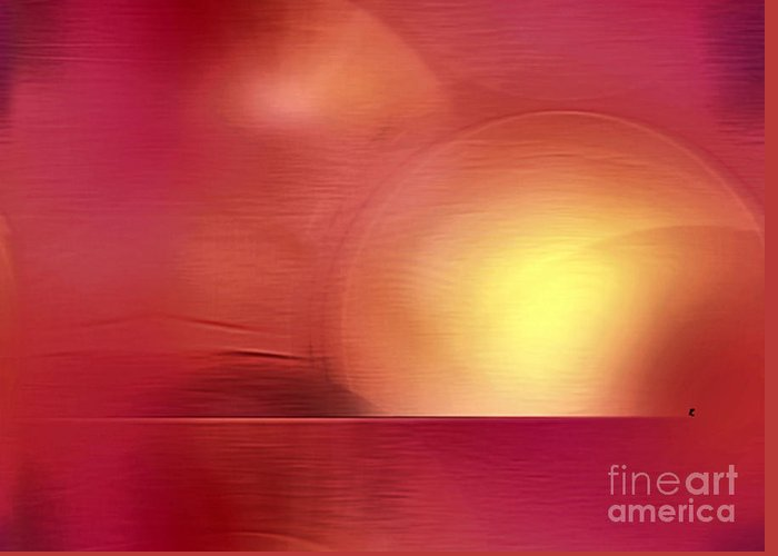 Abstract Greeting Card featuring the digital art Abstract 11 by John Krakora